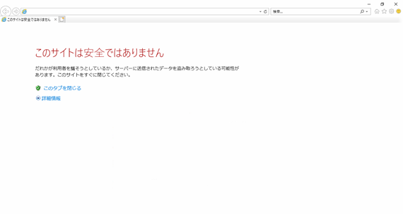 このサイトは安全ではありません1